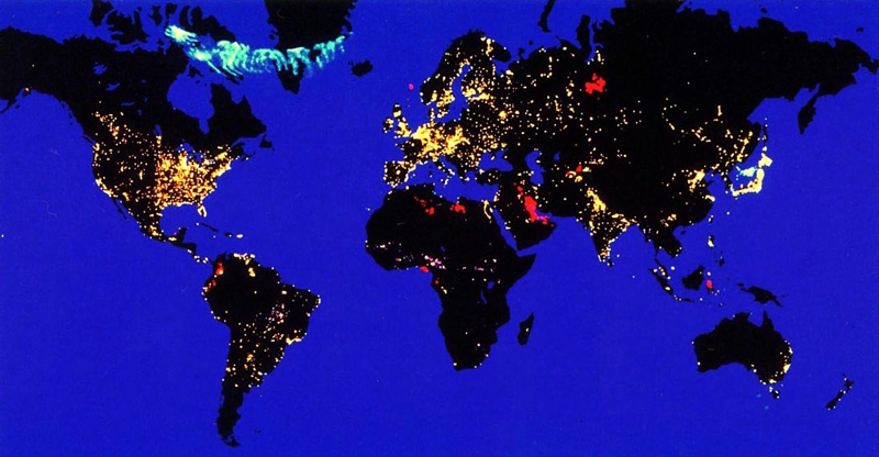 Lumières sur la planète