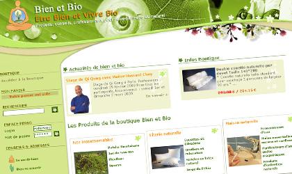 Le site Bien et Bio, produits naturels et biologiques