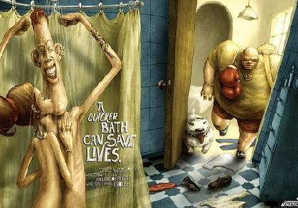Publicité marketing gaspillage d\'eau