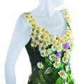 Robe en fleurs pour mariage bio