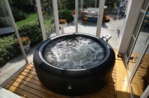 Un spa gonflable pour se détendre