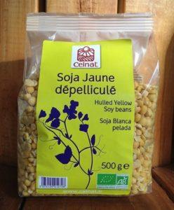 Soja jaune bio dépelliculé