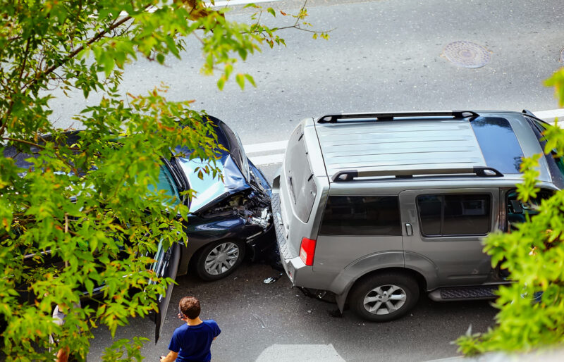 cas d'accident de voiture